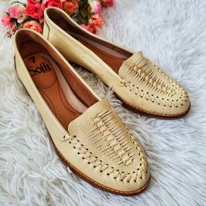 Sofft Leather Hurrache Woven Leather Loafer Size 7
